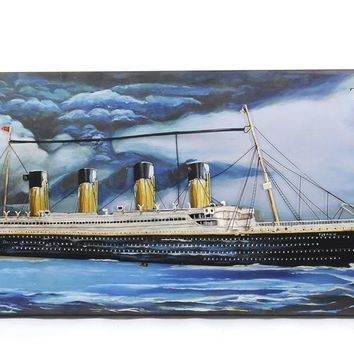 Titanic 3D Painting Hancrafted Nautical Decor