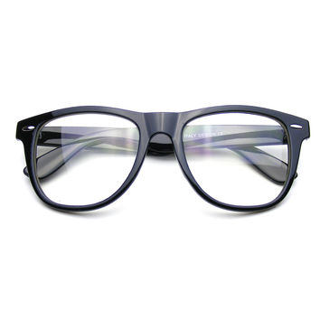 Nerd Black Glasses Clear Lens Clear Horned Rim Sunglasses