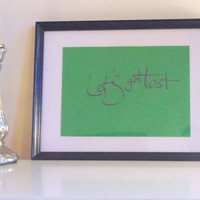 Let's get lost... - black on green - DIN A4 - Wall Art Print handmade written - original by misssfaith