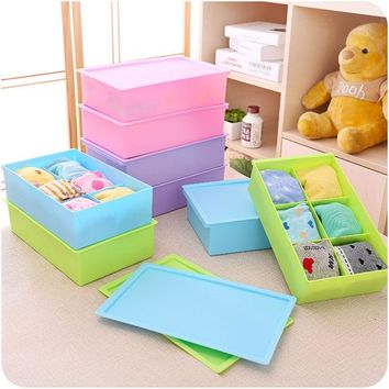 DCCKIX3 A4 Size Thicken Plastic Underwear Storage Box Socks Panties [6395700548]