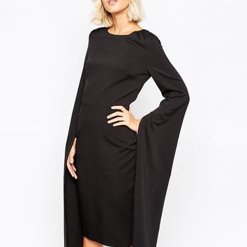 Lavish Alice Cape Sleeve Pencil Dress