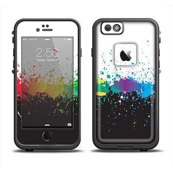The Rainbow Paint Spatter Apple iPhone 6 LifeProof Fre Case Skin Set