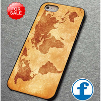 world map vintage for iphone, ipod, samsung galaxy, HTC and Nexus phone case