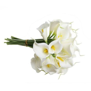 High Quality Popular Latex Calla Lily Bridal Wedding Bouquet Home Decor