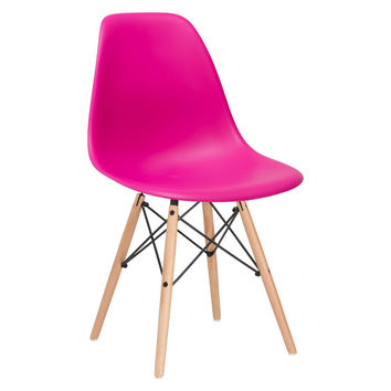 Vortex Side Chair in Fuchsia