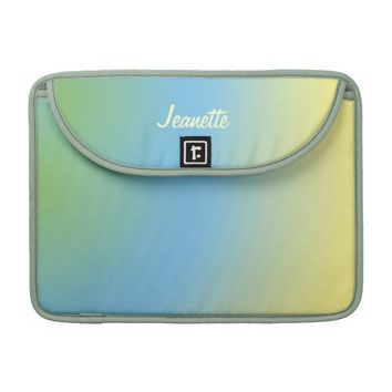 "Macbook Pro 13"" Sleeve Pastel Blue to Yellow Fade"