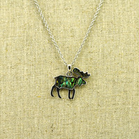 Abalone Moose Necklace