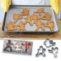 Ninja Bread Men Ginger Bread Cookie Cutters - Whimsical & Unique Gift Ideas for the Coolest Gift Givers