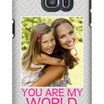You Are My World Photo Galaxy S6 Edge Plus Extra Protective Bumper Case