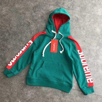 Supreme Girls Boys Children Baby Toddler Kids Child Fashion Casual Top Sweater Pullover Hoodie