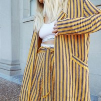 Cooperative Blanche Oversized Striped Blazer | Urban Outfitters