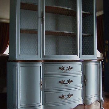 Distressed French Country Hutch by Artisan8 on Etsy