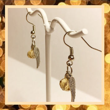 Free Shipping US only  | Golden snitch earrings | Quidditch earrings | Harry Potter inspired