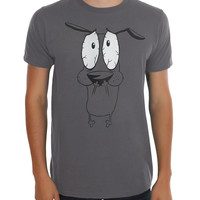 Courage The Cowardly Dog Scared T-Shirt