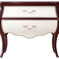 Chest, Merlot/White, Chest of Drawers