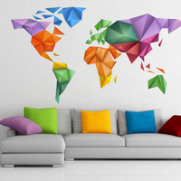 World Map - Origami - Custom Size Listing