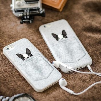 Cute Mini Pocket Dog Case for iPhone 5 5s 7 se 6 6s Plus + Gift-13-170928
