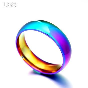 Rainbow Colorful Ring for Men and Women
