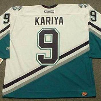 PAUL KARIYA Anaheim Mighty Ducks 2003 CCM Throwback Home NHL Jersey