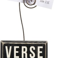 Verse of the Week - Decorative Solid Wood Box Sign with Verse Holder