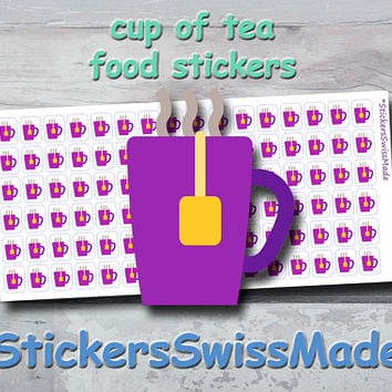 PLANNER STICKER || cup of tea || food || small colored icon | for your planner or bullet journal