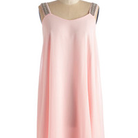 Pastel Mid-length Shift We Wear Pink Dress