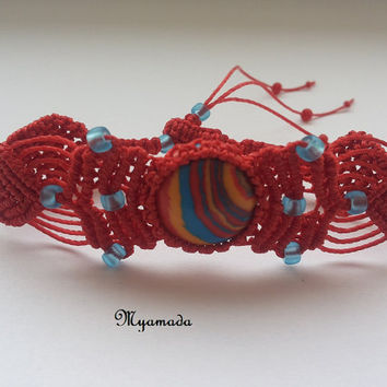 Colored micro macrame bracelet / FREE SHIPPING