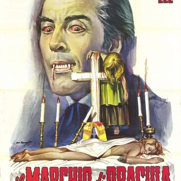 Horror of Frankenstein/Scars of Dracula (Italian) 27x40 Movie Poster (1971)