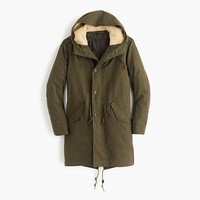 J.Crew Mens Hooded Fishtail Parka With Primaloft