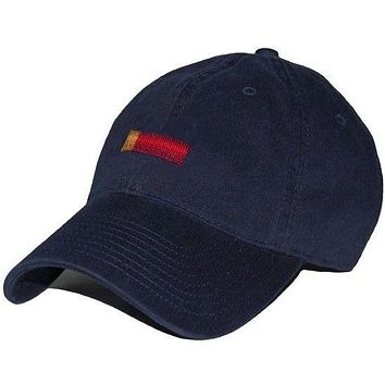 Shotgun Cartridge Needlepoint Hat in Navy by Smathers & Branson