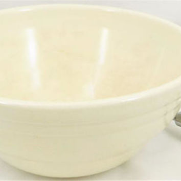 White Pottery Bowl, Small Mixing Bowl,  Old Lace White, Glazed Bowl, Batter Bowl