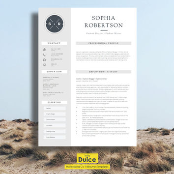 "Creative Resume Template | Teacher Resume | Creative CV Design + Cover Letter + CV Guide for MS Word | Download | Word Resume  ""Chancery"""