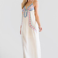 Kera Embroidered Maxi Dress