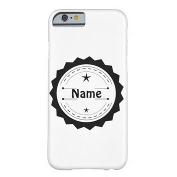 Hipster Bohemian Badge Barely There iPhone 6 Case