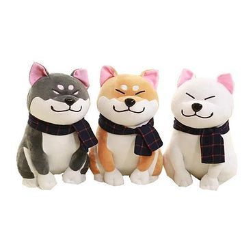 3 Pcs Shiba Inu Dog Japanese Doll Toy Doge Dog Plush Cute Cosplay Gift 25cm