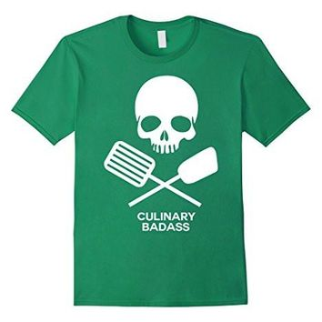 Culinary Badass Skull Chef T Shirt