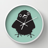 Baby Raven, Hi Wall Clock by Raven Jumpo