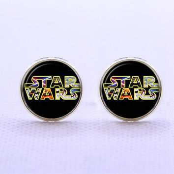 Star Wars  Cufflinks -Mens Silver Plated Cufflinks,Accessoires for Man-Mens Gift ,Gift for Daddy ,Best Man