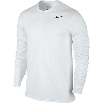 Nike Mens Legend 2.0 Long Sleeve Dri-Fit Training Shirt White/Black 718837-100 Size Large