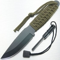 Full Tang Survival Knife & Fire Starter