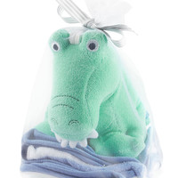 3-Pack Washcloths & Bath Toy