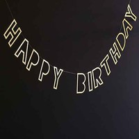 Meri Meri Happy Birthday Glitter Banner
