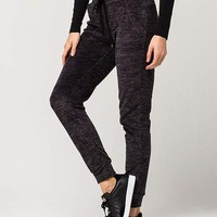 ALMOST FAMOUS Space Dye Womens Velour Jogger Pants | Pants + Joggers