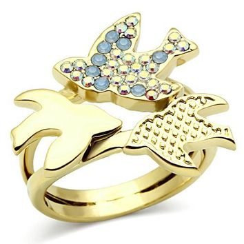 Shimeath Birds Gold Ring