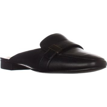A35 Aidaa Open Heel Loafers, Black Leather, 8 US