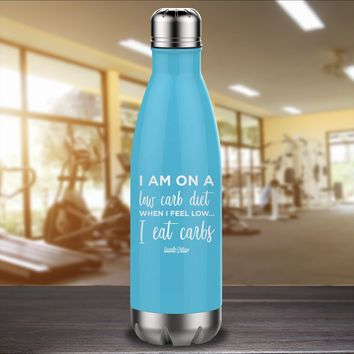 I Am On A Low Carb Diet Laser Etched Water Bottle