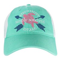 Simply Southern Preppy Collection Turtle Hat in Seafoam HAT-TURTLE-SEAFOAM