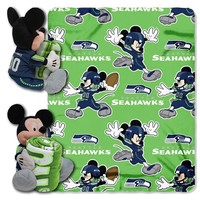 Seattle Seahawks Mickey Mouse Hugger with Throw Blanket