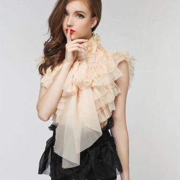 DCCKON3 White Black Sexy off shoulder chiffon blouse women Summer flare sleeve lace blouse Elegant beach party blusas Bow Top 2017