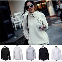 2014 New Arrival Autumn Women Hoodies Women Sport Suit Pullovers Hoody and Swearshirt Fleece Warm Winter Coat - TH-1311